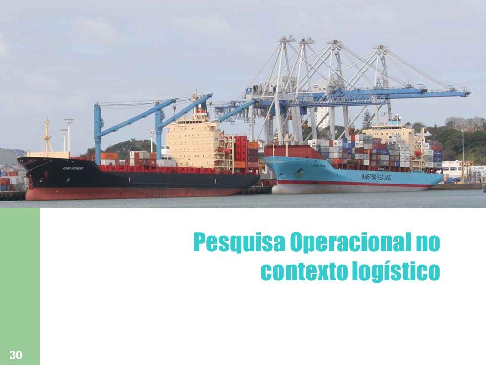 Pesquisa Operacional no contexto logístico