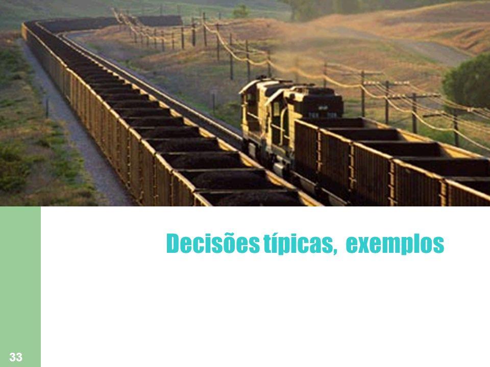 Decisões típicas, exemplos