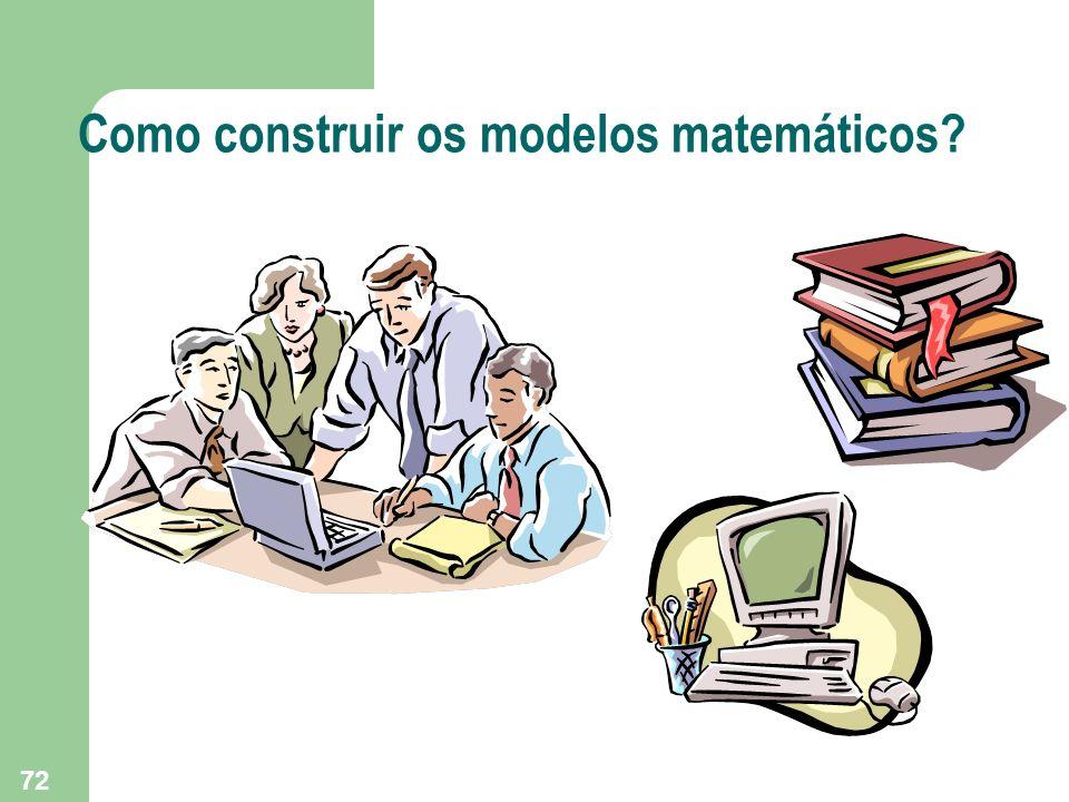Como construir os modelos matemáticos