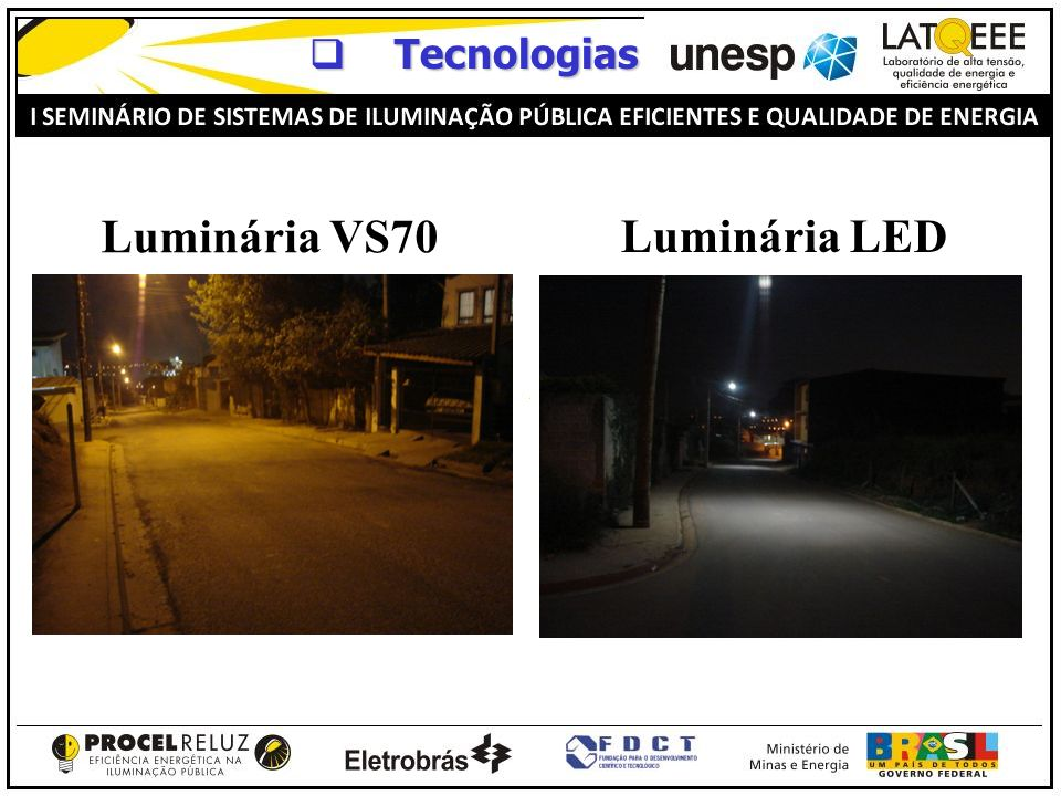 Luminária VS70 Luminária LED