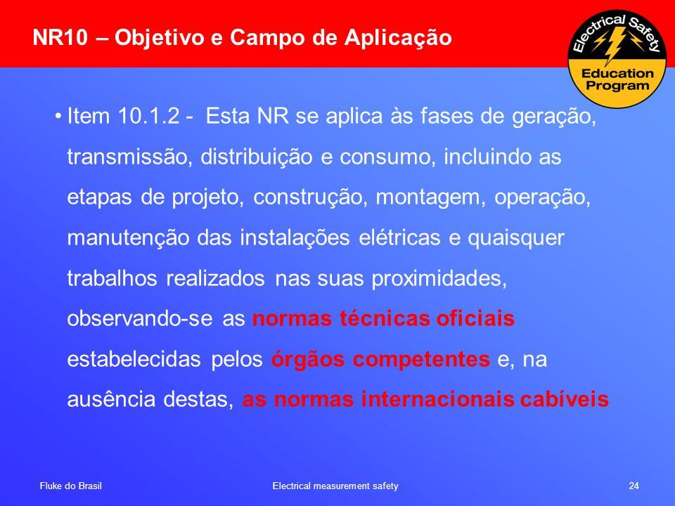 NR10 – Objetivo e Campo de Aplicação