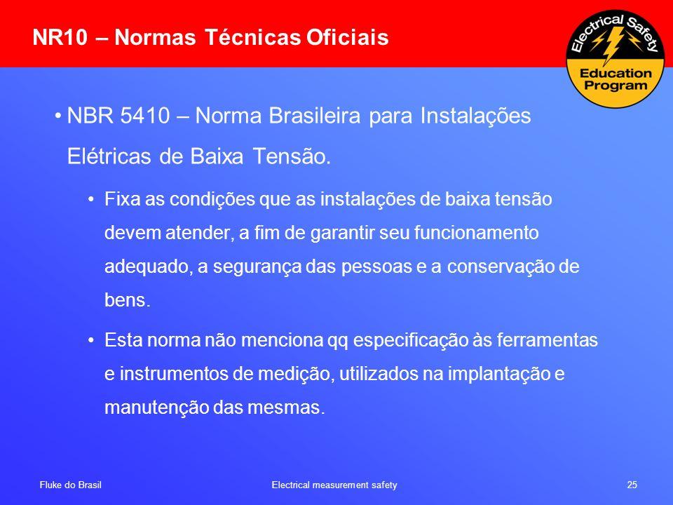 NR10 – Normas Técnicas Oficiais