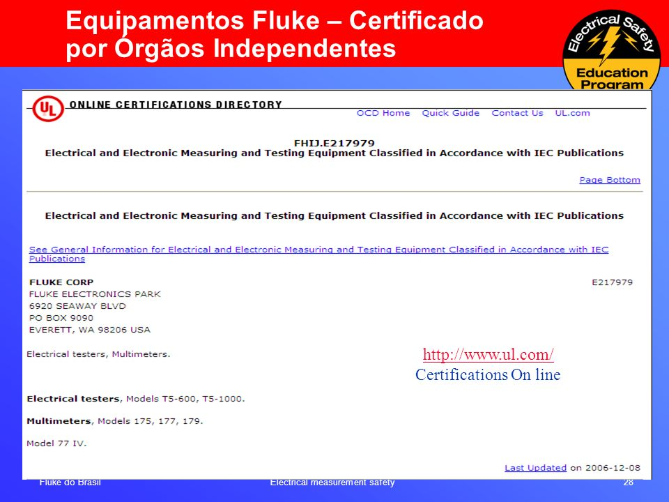 Certifications On line