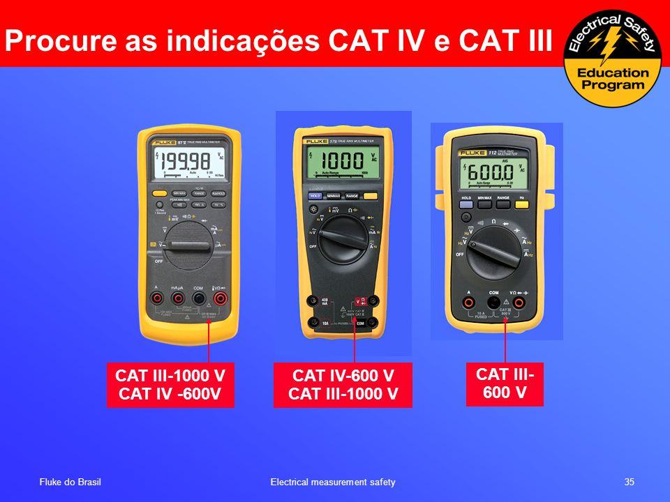 Procure as indicações CAT IV e CAT III