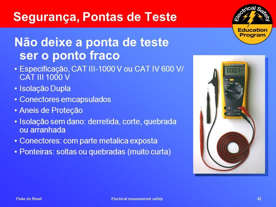 Segurança, Pontas de Teste
