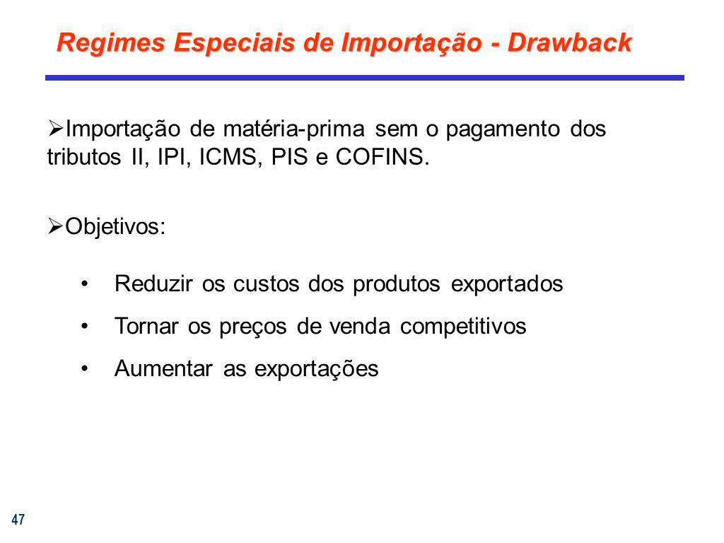 Regimes Especiais de Importação - Drawback