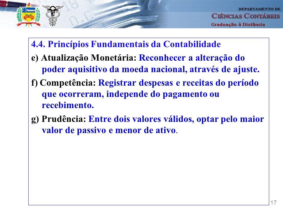 4.4. Princípios Fundamentais da Contabilidade
