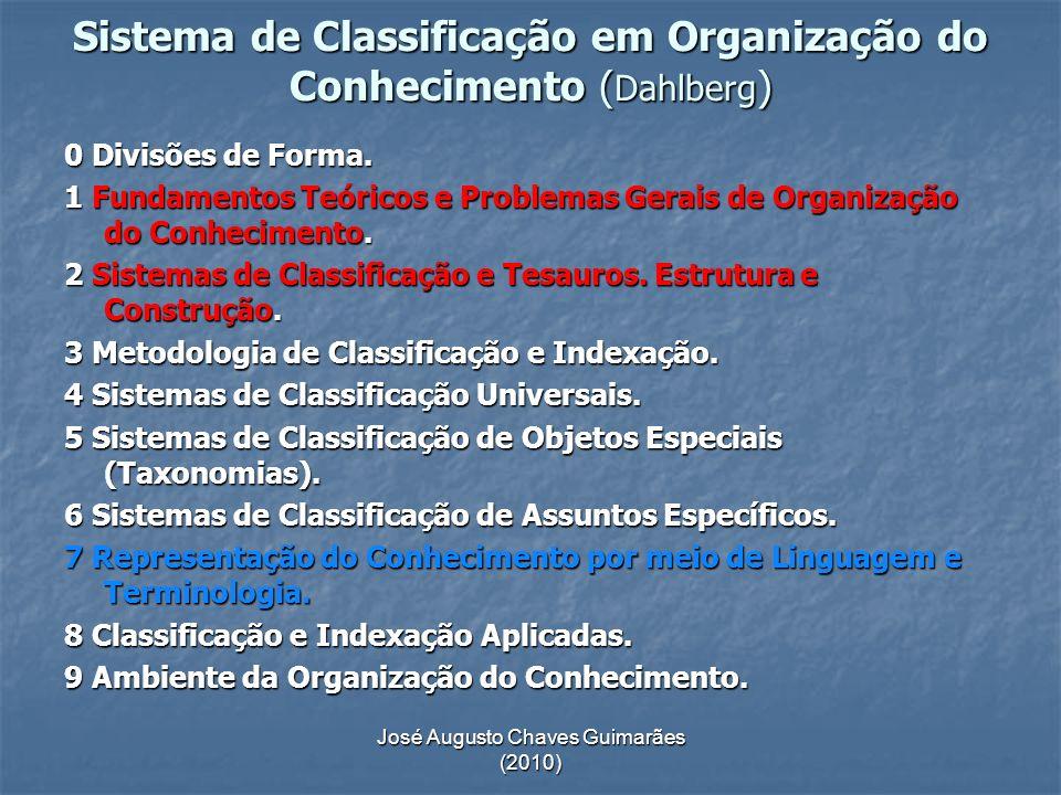 Sistema de Classificação em Organização do Conhecimento (Dahlberg)