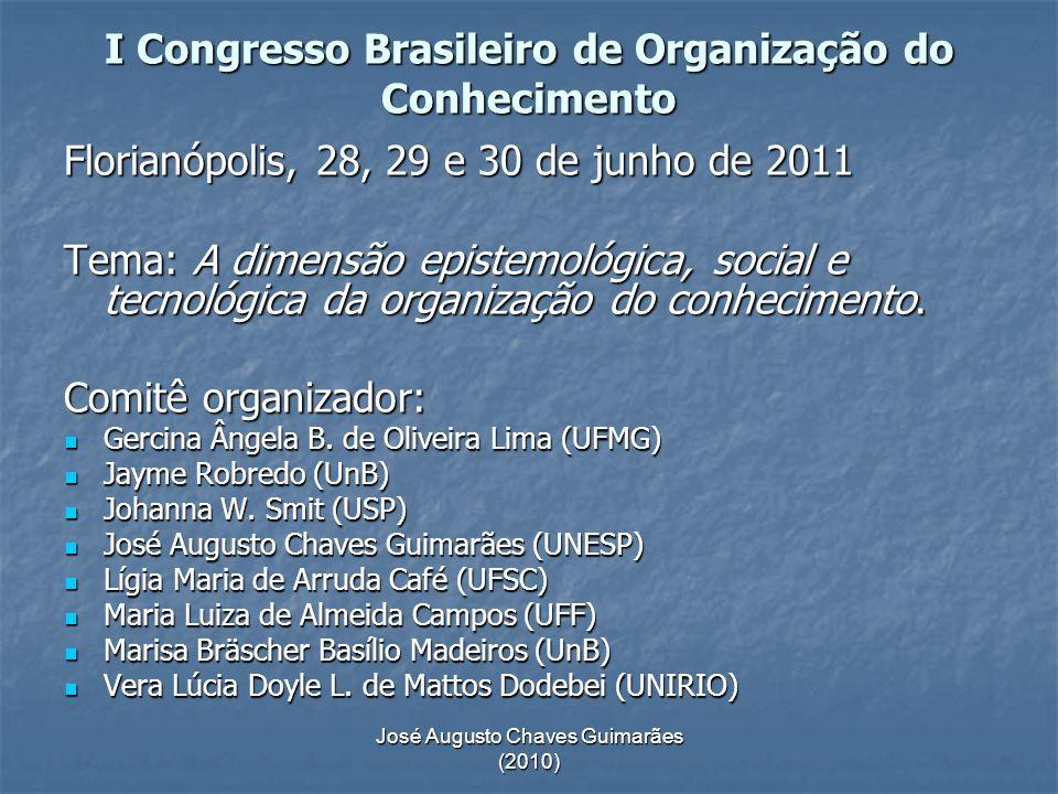 I Congresso Brasileiro de Organização do Conhecimento