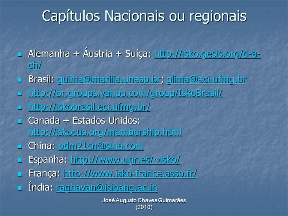 Capítulos Nacionais ou regionais