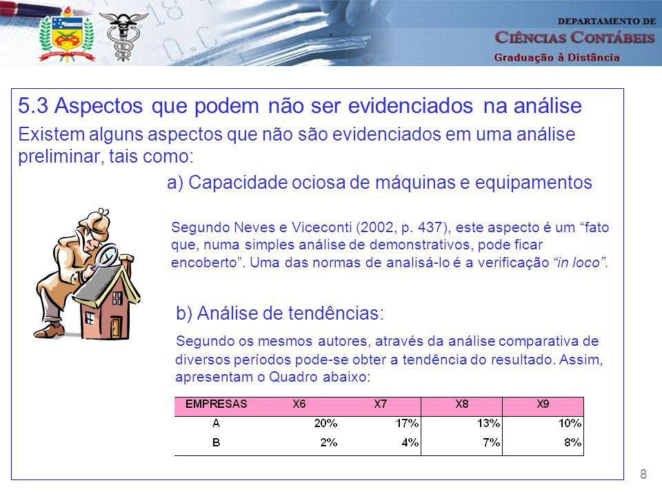 5.3 Aspectos que podem não ser evidenciados na análise