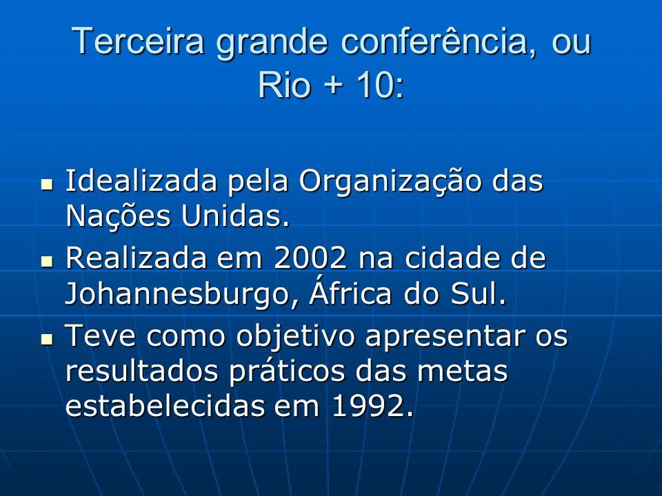 Terceira grande conferência, ou Rio + 10: