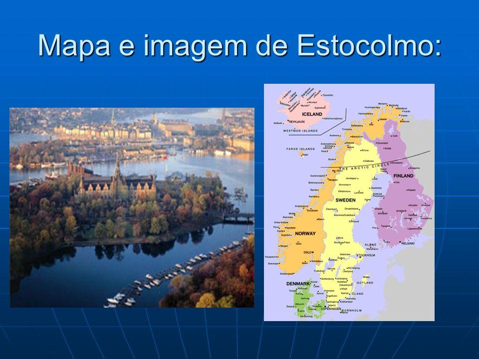 Mapa e imagem de Estocolmo: