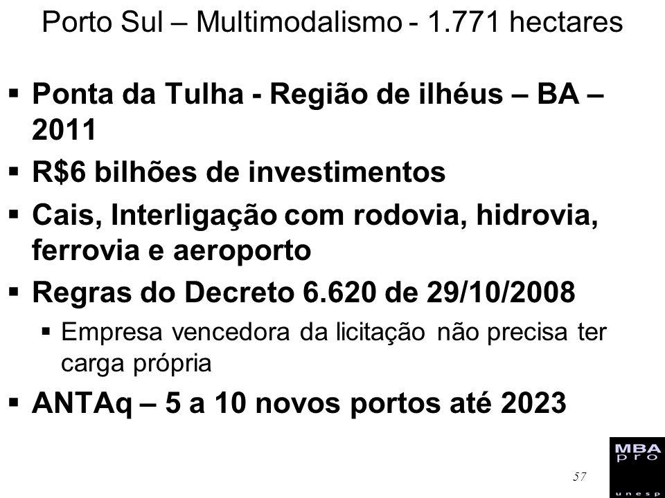 Porto Sul – Multimodalismo - 1.771 hectares