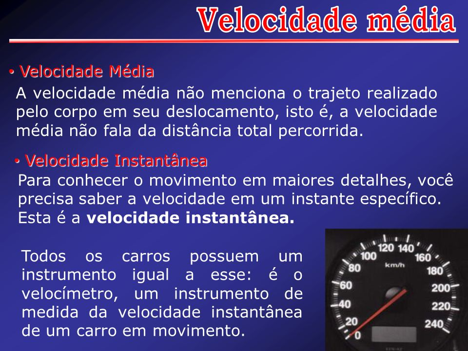 Velocidade média Velocidade Média
