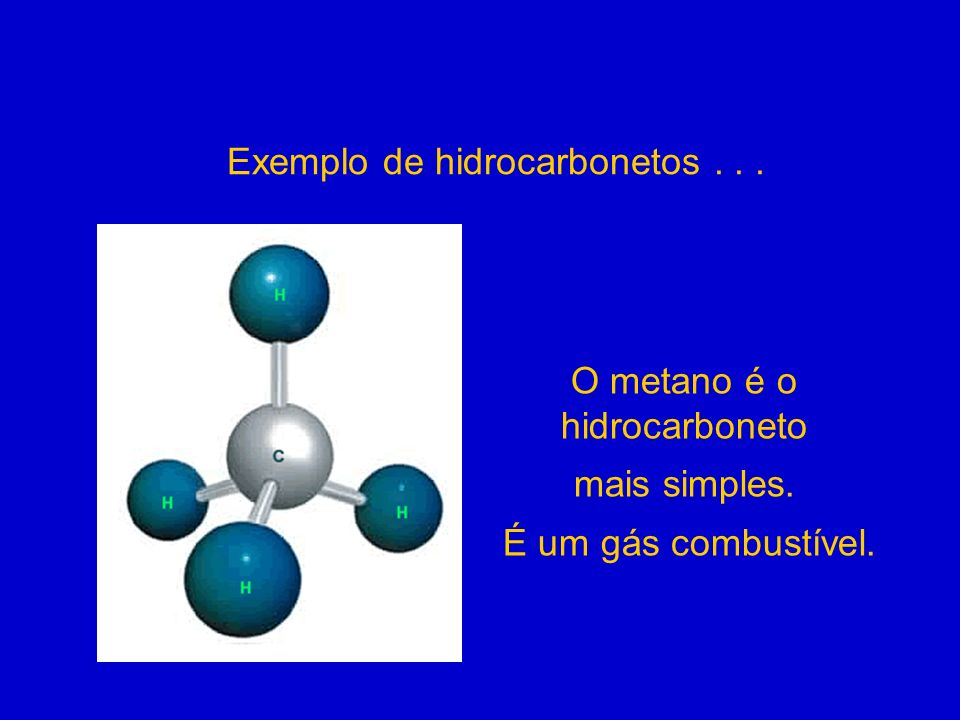 Exemplo de hidrocarbonetos . . .