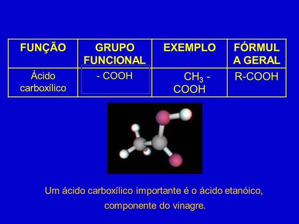 Um ácido carboxílico importante é o ácido etanóico,