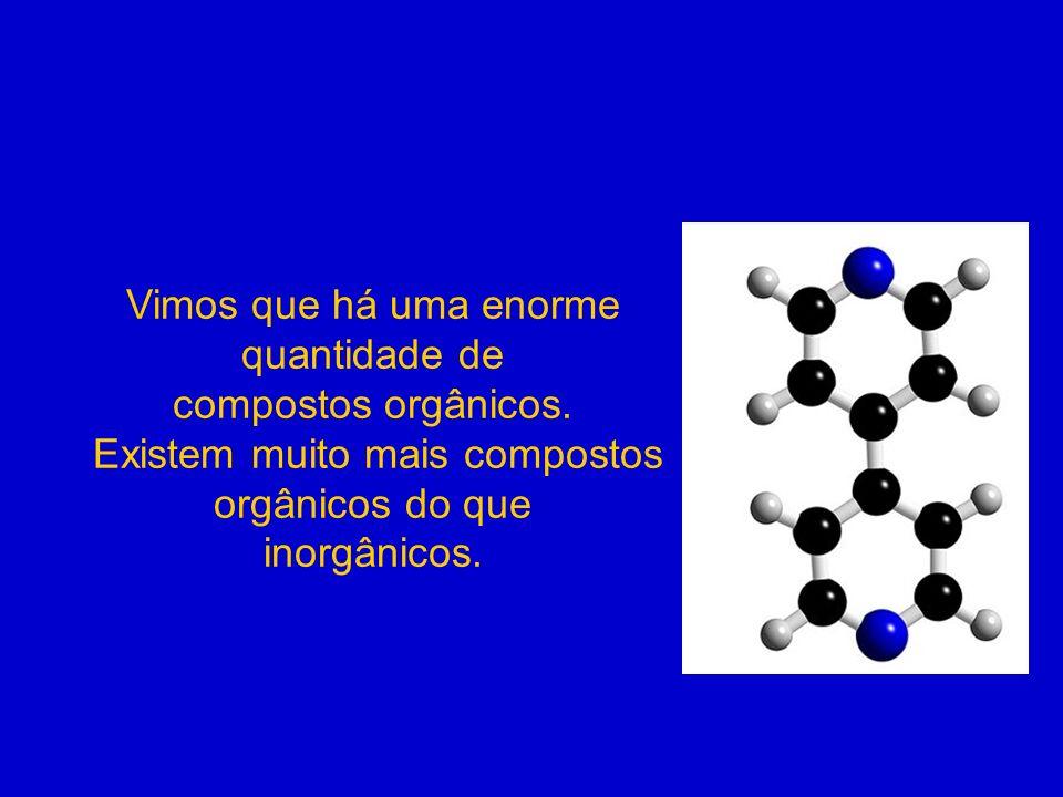 Vimos que há uma enorme quantidade de compostos orgânicos.