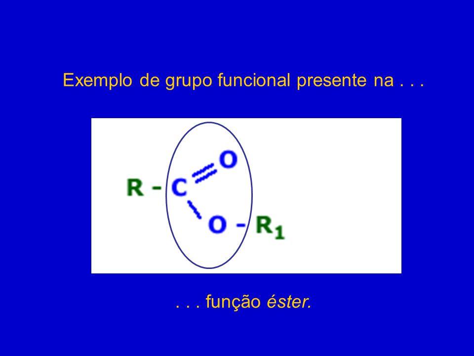 Exemplo de grupo funcional presente na . . .