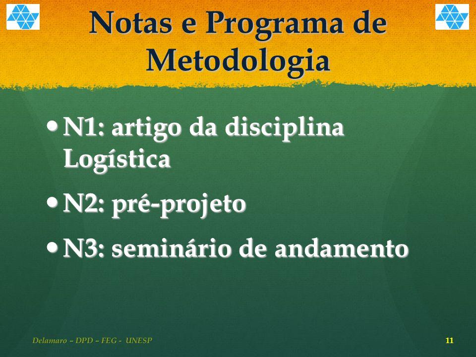 Notas e Programa de Metodologia