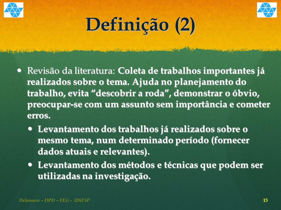 Delamaro – DPD – FEG - UNESP