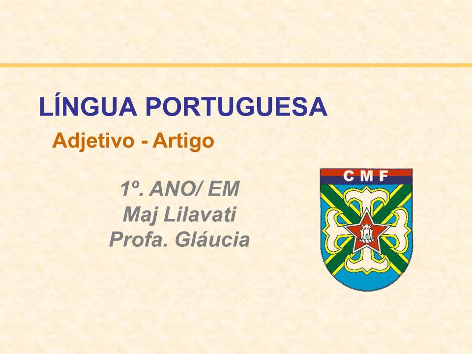 LÍNGUA PORTUGUESA Adjetivo - Artigo 1º. ANO/ EM Maj Lilavati