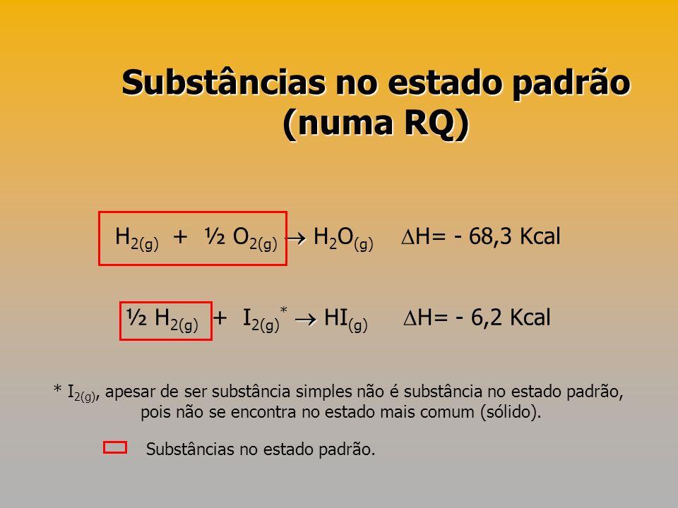 Substâncias no estado padrão