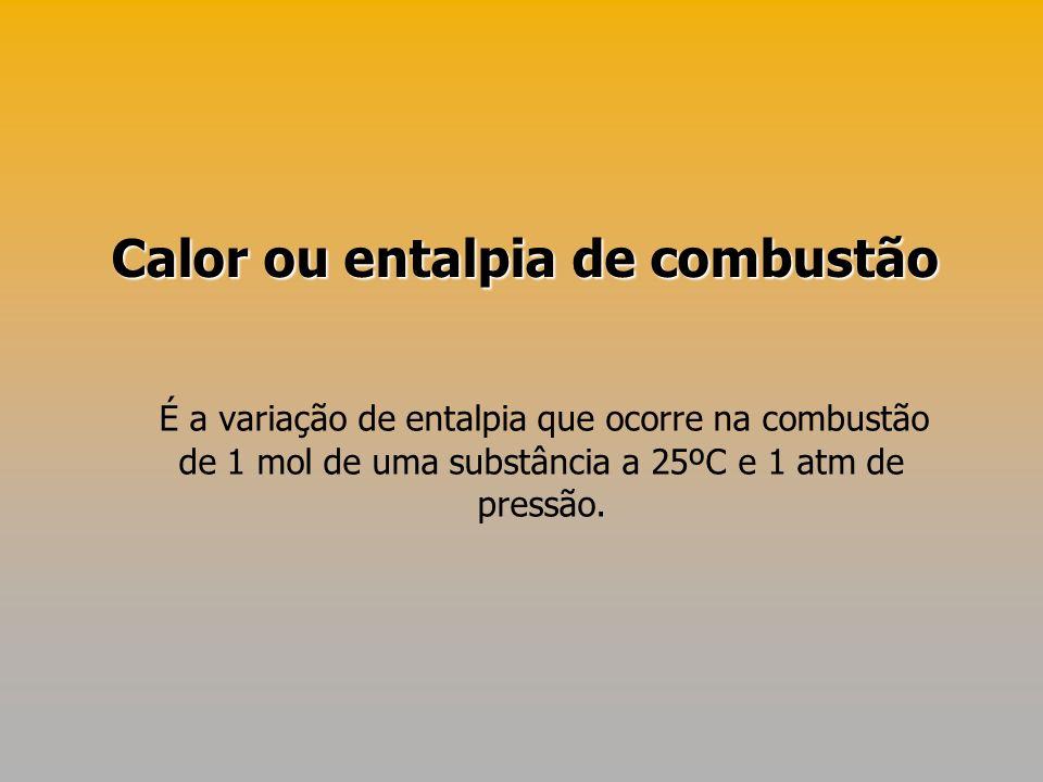 Calor ou entalpia de combustão