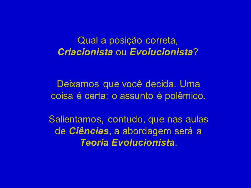 Qual a posição correta, Criacionista ou Evolucionista