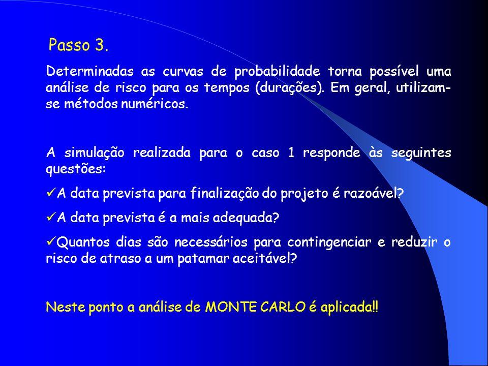 A simulação realizada para o caso 1 responde às seguintes questões: