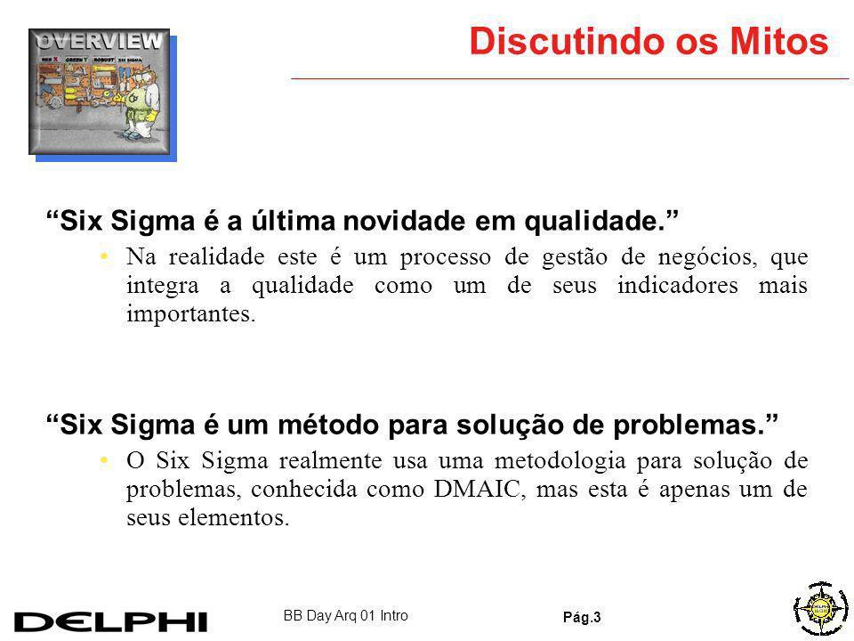Discutindo os Mitos Six Sigma é a última novidade em qualidade.