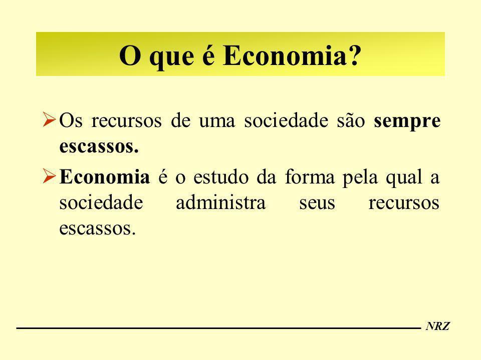 O que é Economia Os recursos de uma sociedade são sempre escassos.