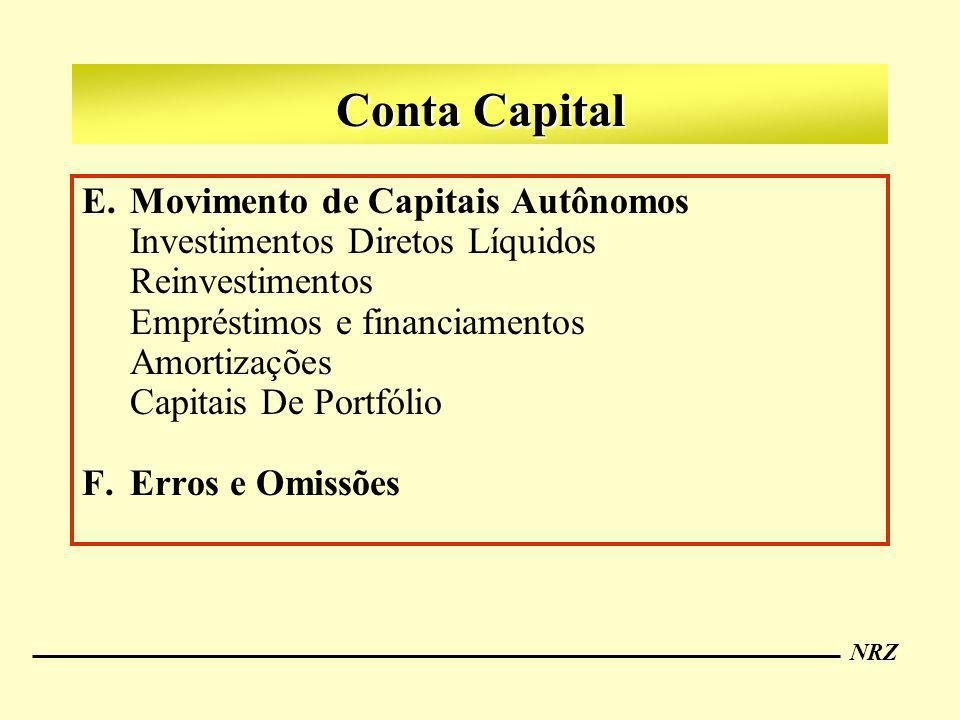 Conta Capital Movimento de Capitais Autônomos