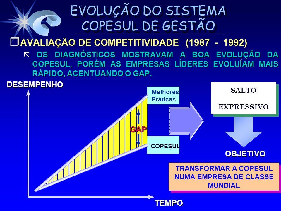 AVALIAÇÃO DE COMPETITIVIDADE (1987 - 1992)