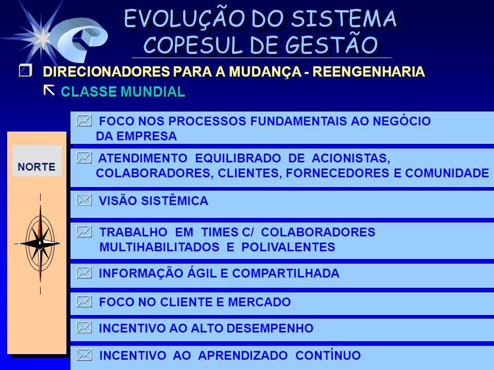 DIRECIONADORES PARA A MUDANÇA - REENGENHARIA CLASSE MUNDIAL