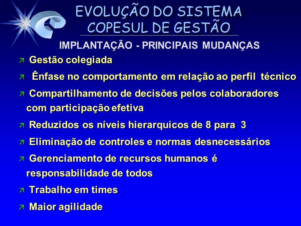 IMPLANTAÇÃO - PRINCIPAIS MUDANÇAS