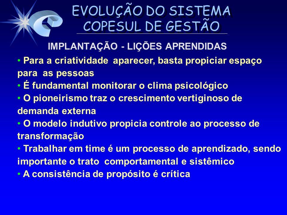 IMPLANTAÇÃO - LIÇÕES APRENDIDAS