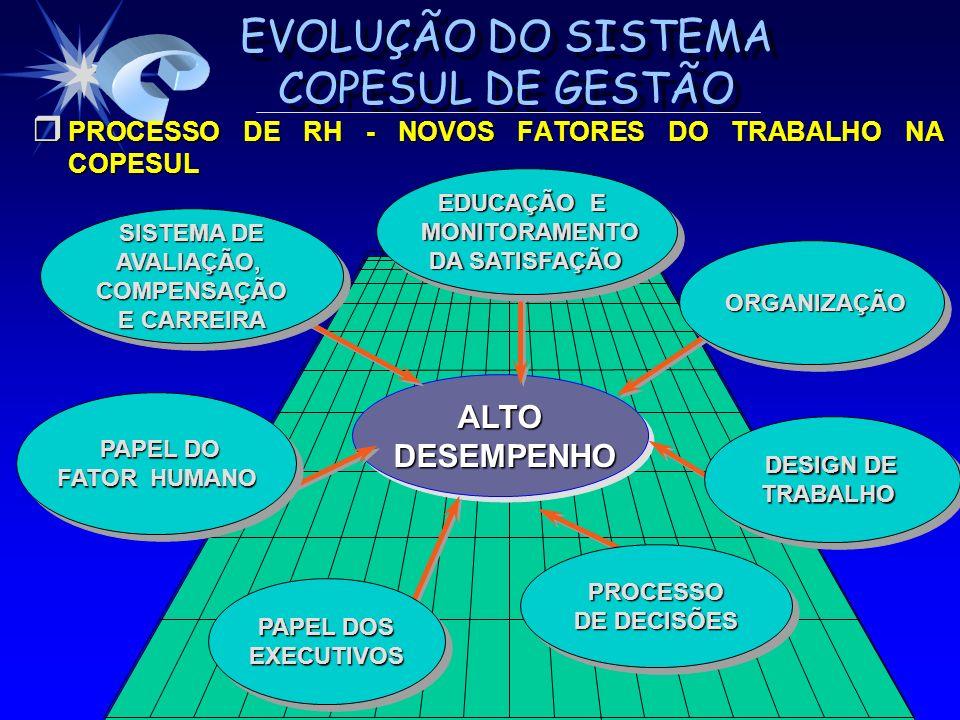ALTO DESEMPENHO PROCESSO DE RH - NOVOS FATORES DO TRABALHO NA COPESUL