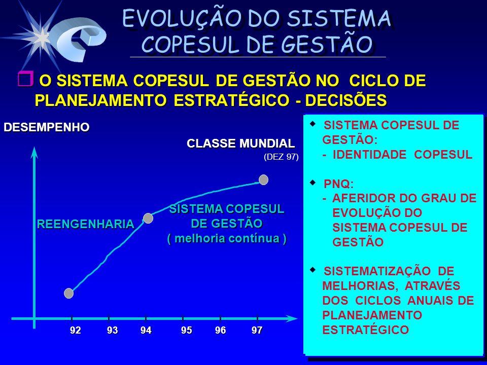 O SISTEMA COPESUL DE GESTÃO NO CICLO DE PLANEJAMENTO ESTRATÉGICO - DECISÕES