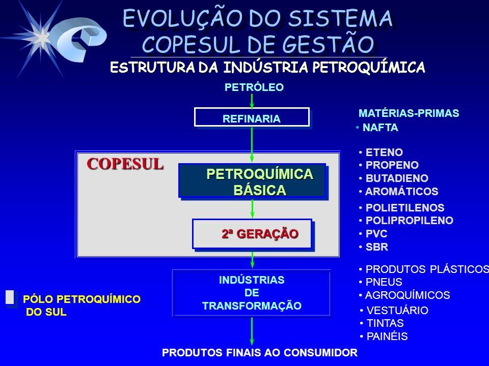 COPESUL ESTRUTURA DA INDÚSTRIA PETROQUÍMICA PETROQUÍMICA BÁSICA