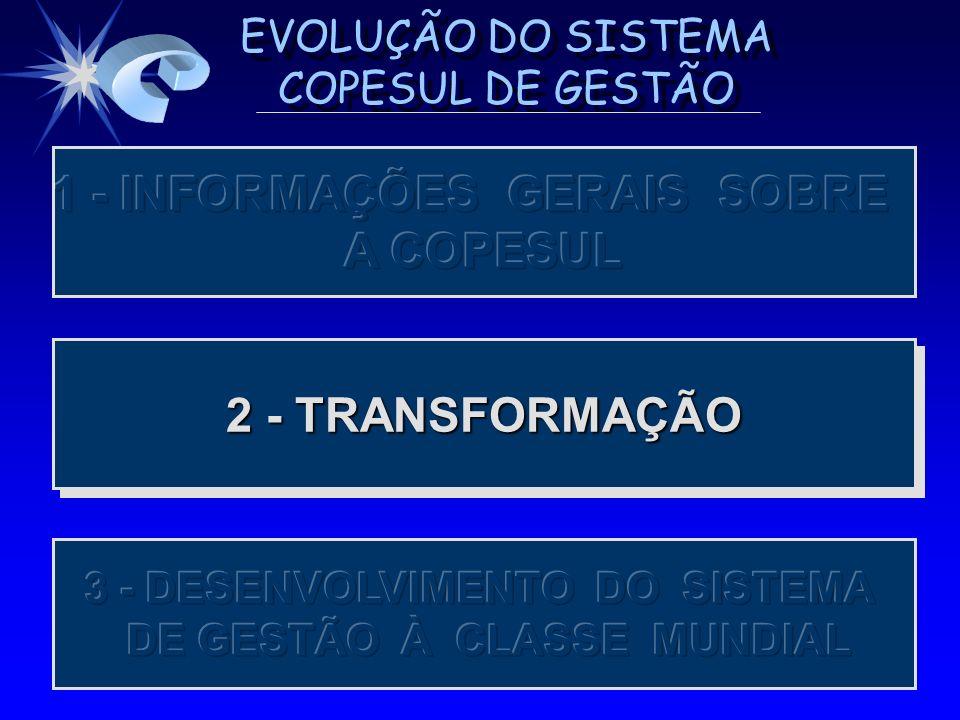 1 - INFORMAÇÕES GERAIS SOBRE A COPESUL 2 - TRANSFORMAÇÃO
