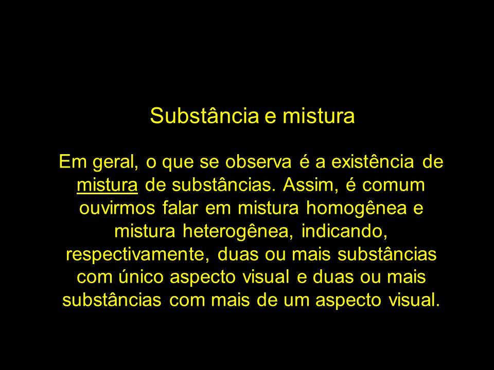 Substância e mistura