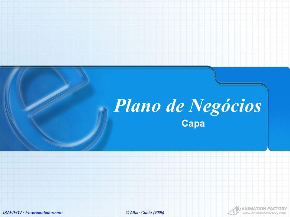 Plano de Negócios Capa ISAE/FGV - Empreendedorismo
