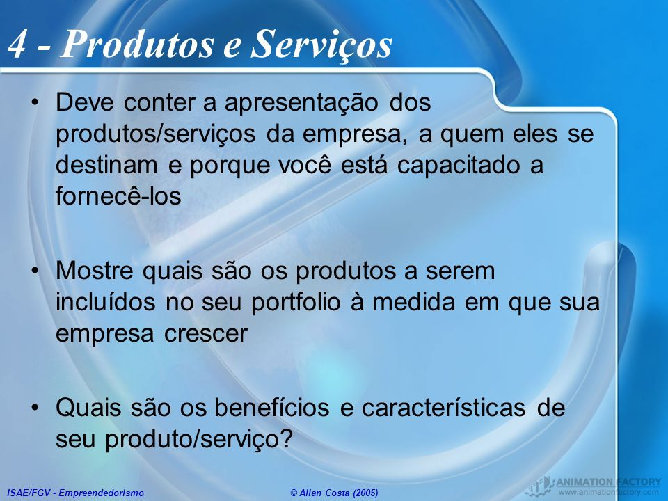 4 - Produtos e Serviços