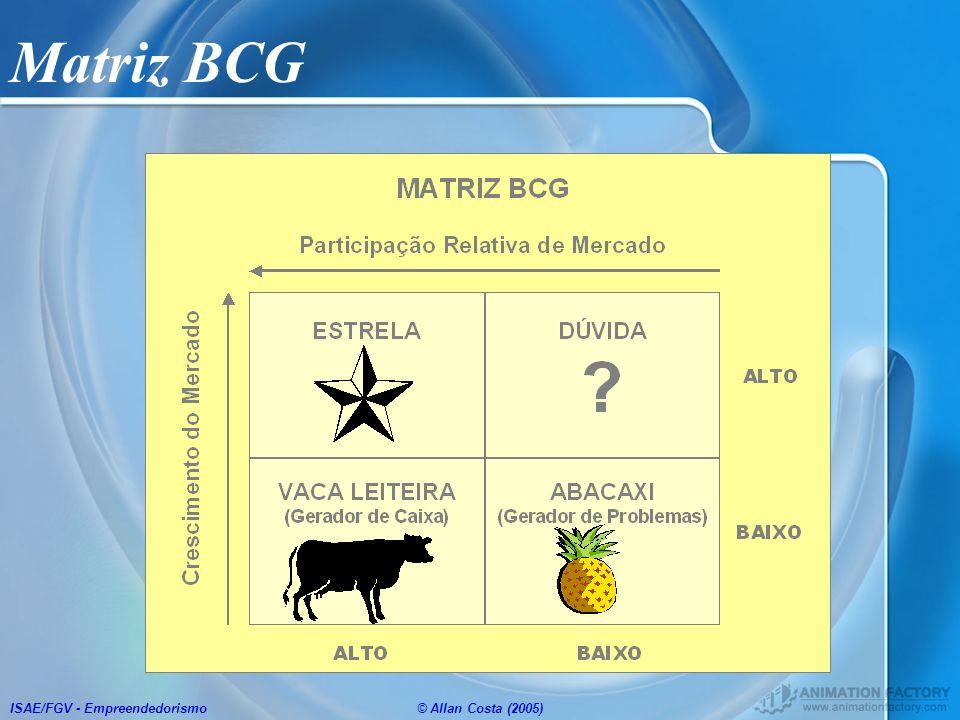 Matriz BCG ISAE/FGV - Empreendedorismo © Allan Costa (2005)