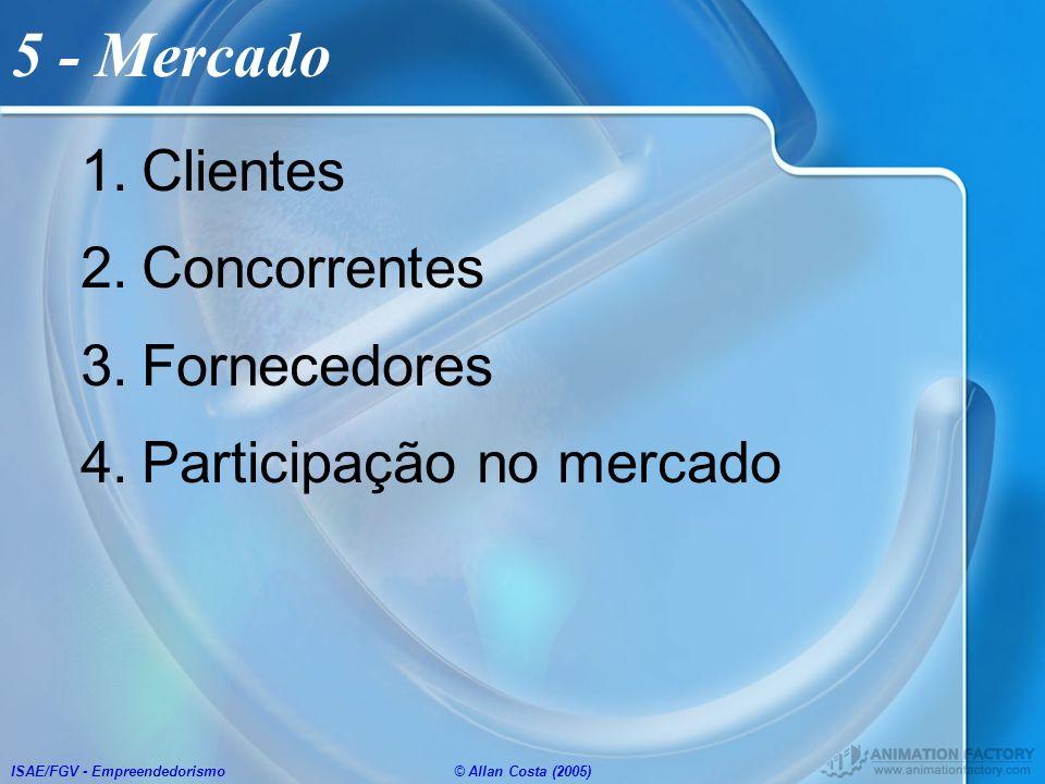5 - Mercado Clientes Concorrentes Fornecedores Participação no mercado