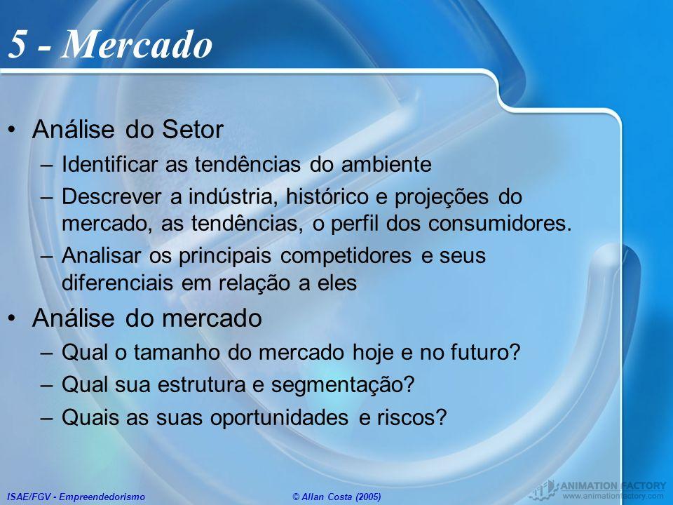 5 - Mercado Análise do Setor Análise do mercado