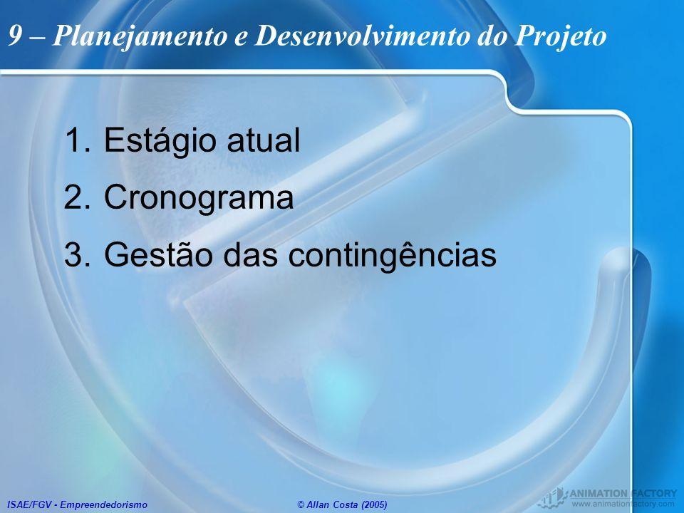 9 – Planejamento e Desenvolvimento do Projeto