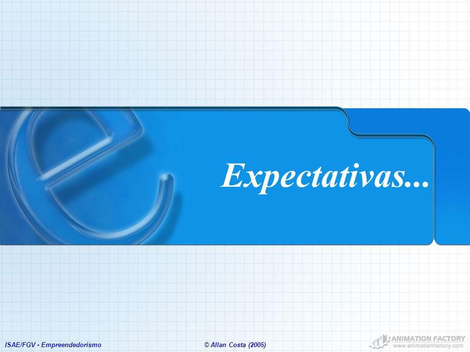 Expectativas... ISAE/FGV - Empreendedorismo © Allan Costa (2005)