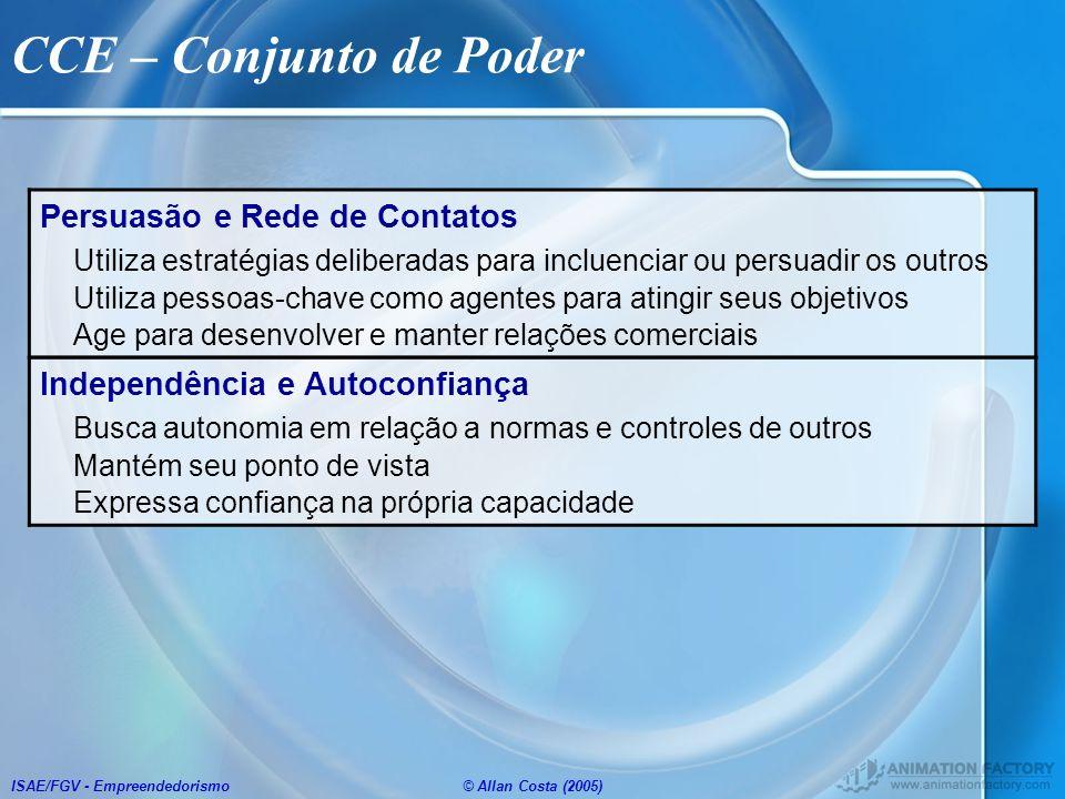 CCE – Conjunto de Poder Persuasão e Rede de Contatos